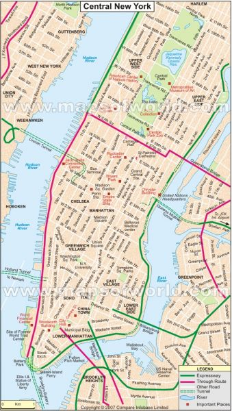 PLAN NEW YORK centralnewyorkcitymap